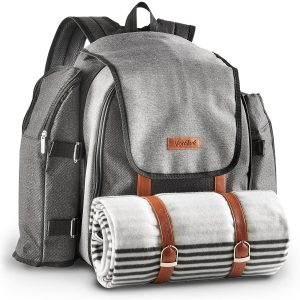 VonShef 4 Person Premium Outdoor Picnic Backpack